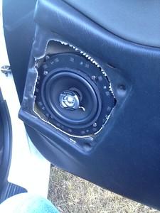 1990 Honda Civic Hatchback Front Door Speaker Installation - France