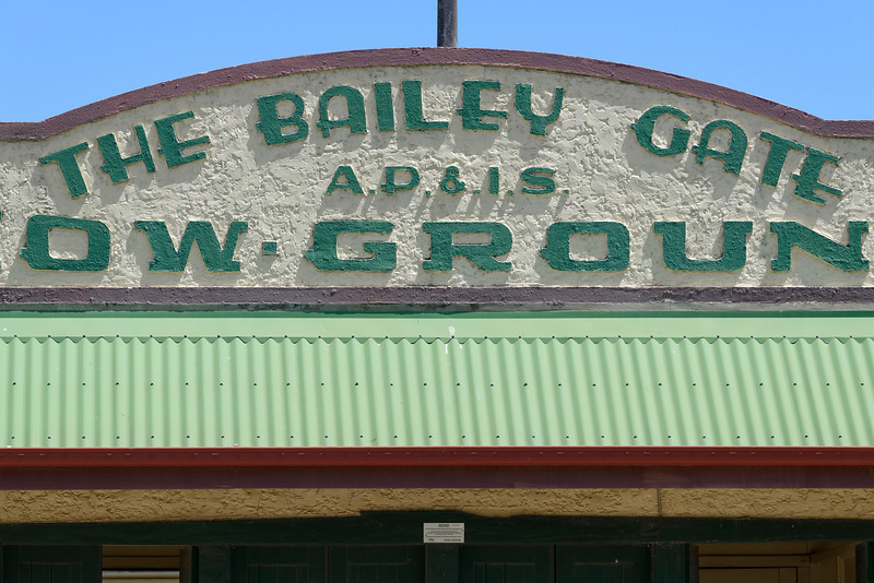 A detail of the gate, I have no idea who Bailey was but perhaps an early Show Society president.
