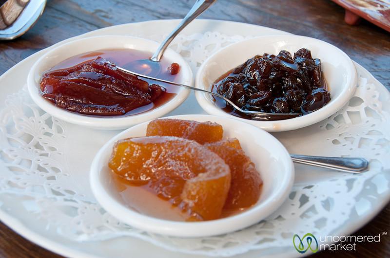 Cretan Dessert of Stewed Fruit in Syrup - Agreco Farm, Crete