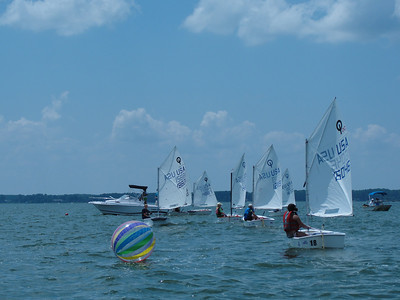 2012 Governor's Cup Regatta - Alex in Green Opti fleet