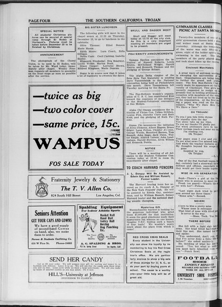 The Southern California Trojan, Vol. 11, No. 35, December 17, 1919