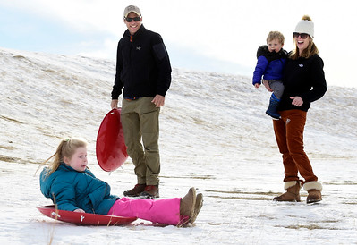 Photos: Sledding at Dry Creek Community Park in Longmont