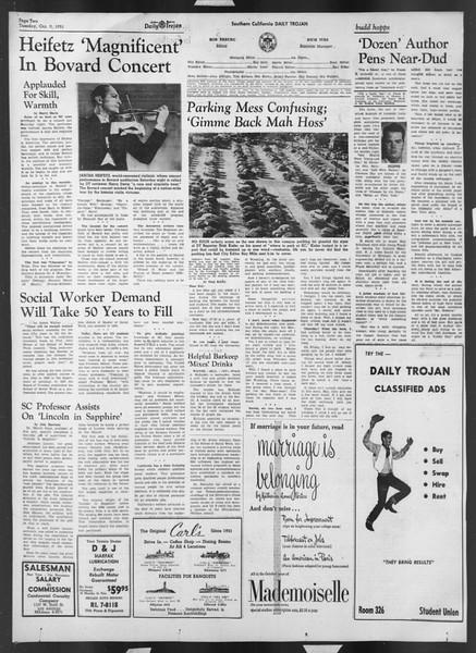 Daily Trojan, Vol. 43, No. 17, October 09, 1951