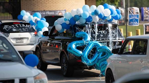 Nolan senior car parade