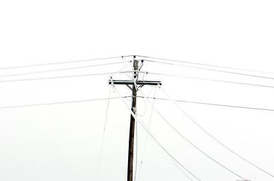 Ice storm Power Lines