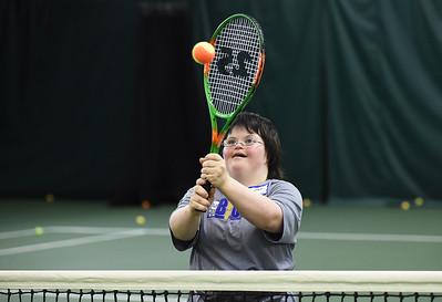Buddy-Up on tennis court