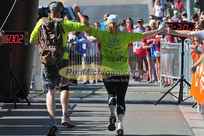 Marathon & Half Finish Gallery 1 - 2012 Charlevoix Marathon