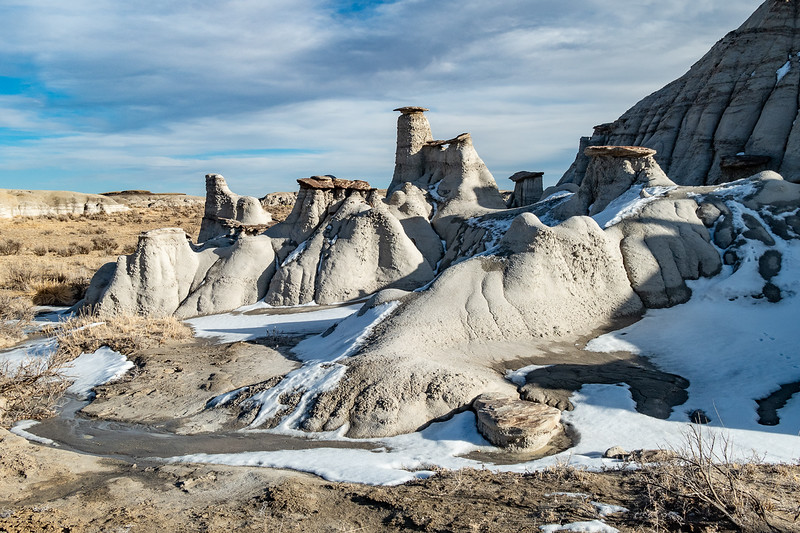 Great Winter Badlands Formations