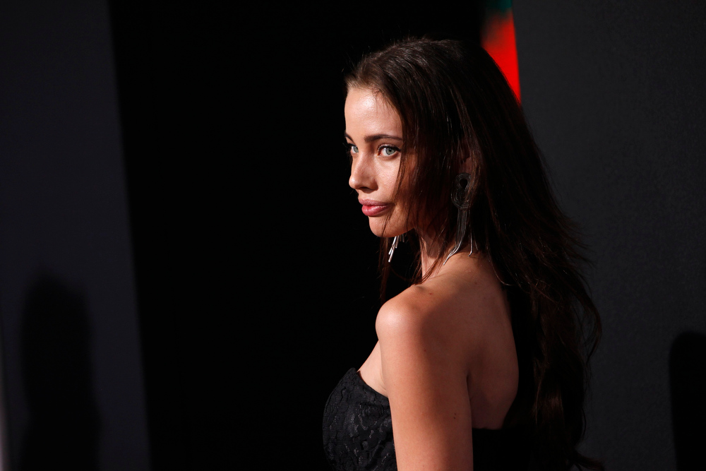 Description of . Model Stephanie Corneliussen arrives at the premiere of the film