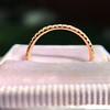 Rose Gold Micropave Diamond Band, by Single Stone 1