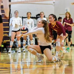 Burlingame Girls Varsity Volleyball vs. M-A, 2017-10-24