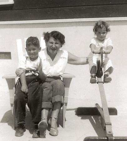 Ellis Mirsky, Shirley Jacobs and Phyllis Jayne Mirsky, ca. 1951