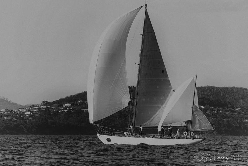Dorade just finishing the 2017 Sydney to Hobart