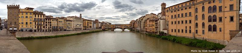 View at Ponte Vecchio, Florence.