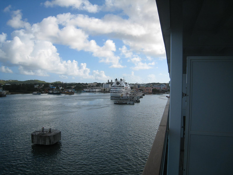 The Seabourn Spirit was alongside at St. John's, Antigua