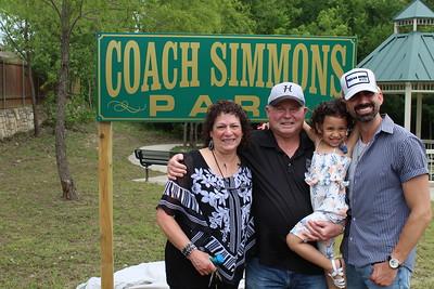 Coach Simmons Park unveiled, 5/15/2021