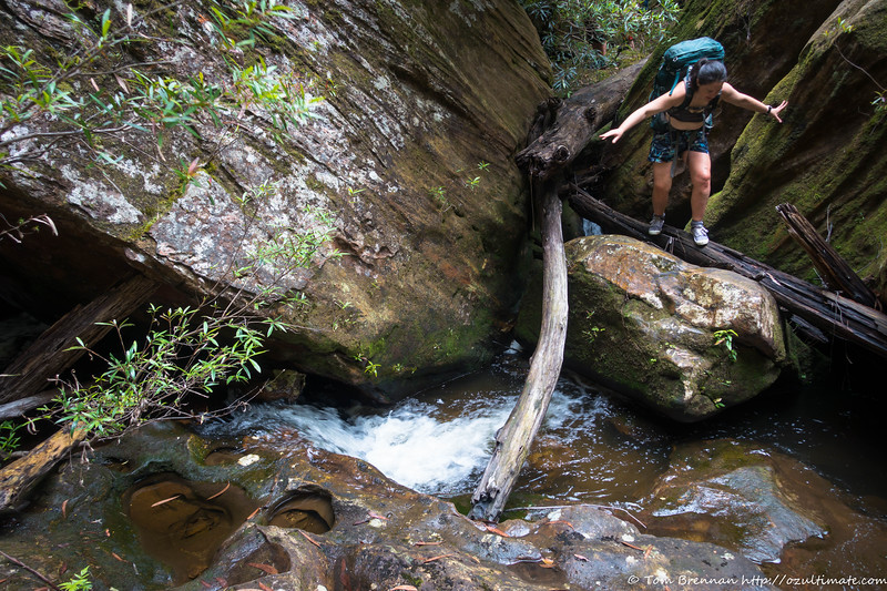 Jo in the slippery creek