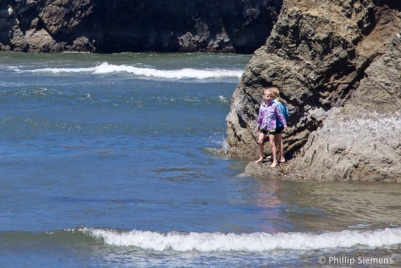 Twins at our secret beach