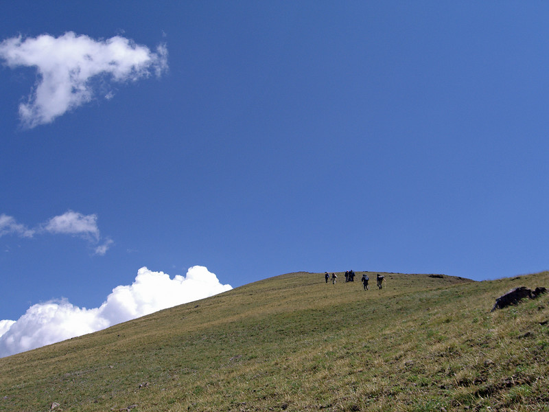 the last push to the Wolverine Peak summit, over 9000 feet.