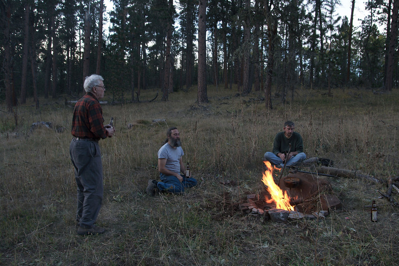 Our first real camp site.  In the national forest south of Deadwood, SD.