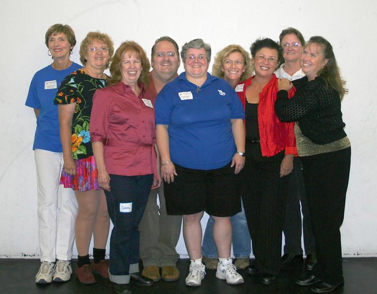 Cuers: Bonnie, Althea, Carol, short Richard, Deann, short Michele, Janice, Lois, Susi