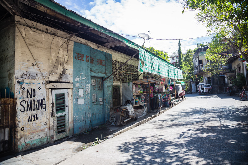Street view of Culion Island in the Philippines