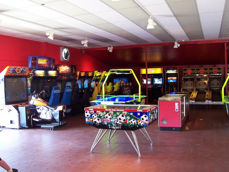 Inside the Lake Arcade.