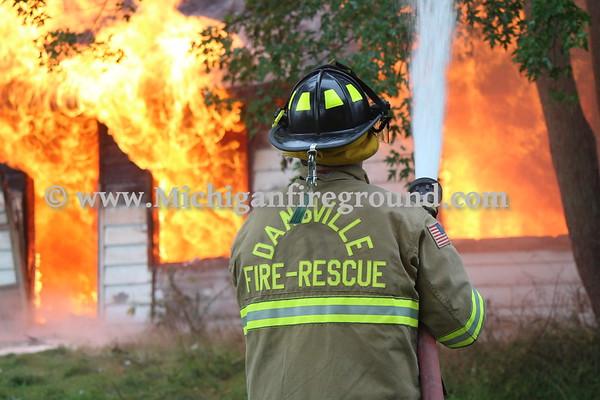9/8/18 - Leroy Twp live burn training, M-52 & Lovejoy Rd