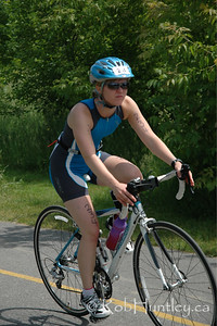 2009 Ottawa Riverkeeper Triathlon. Cyclist nearing the end of the cycling stage.  © Rob Huntley