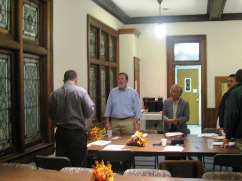 09 10-22  Board members holding an organizing meeting.  bb