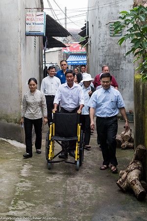 Bac Ninh Diocese Wheelchair Deliveries - Day Two