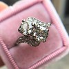1.99ctw Vintage Old Mine Cut Bypass Ring 12