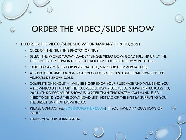 Subway - January 11 & 13, 2021 - Show (COVID)
