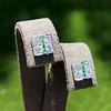 Art Deco Diamond and Emerald Disc Earrings 14