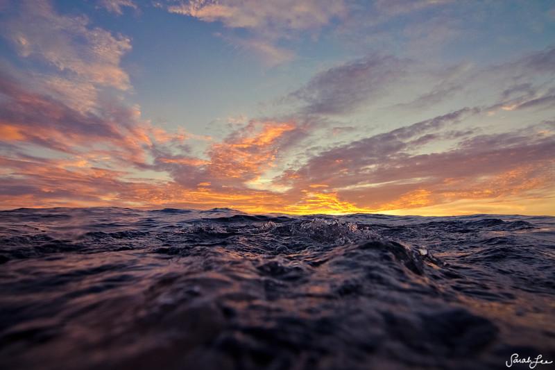 dusk sea