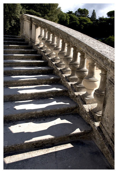 More steps and structures (this and the next two pics) in Nimes.