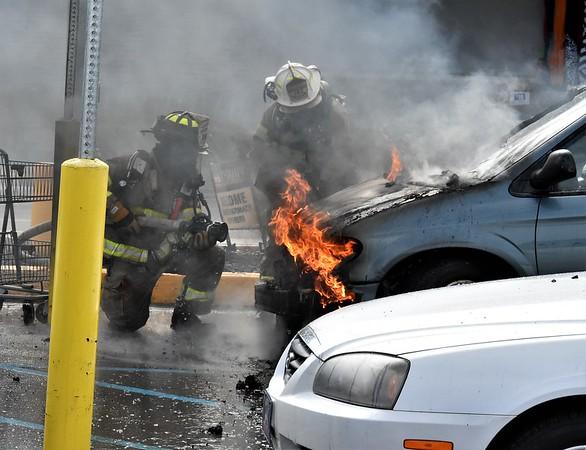 West Hazleton 183 working car fire 100 wies Ln.