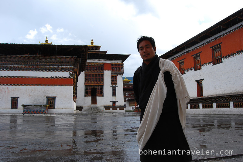 our guide at Tashichho Dzong in Thimphu Bhutan.jpg