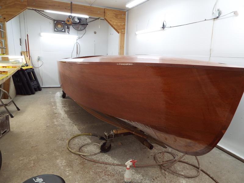 Starboard side almost sanded.