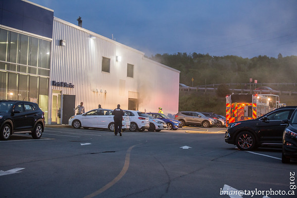 Fire at a local Auto Dealership, New Minas, Nova Scotia, June 4, 2018