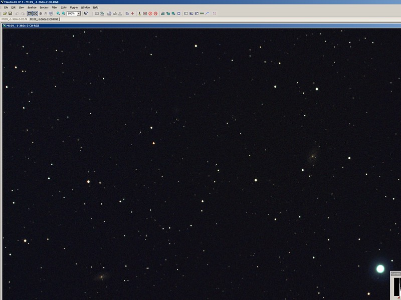 13. This is the cleaned image. Notice the galaxy M109. Remember you had shot it under heavy light pollution with an OSC cam and IDAS filter. Do you love photo processing. I do.jpg