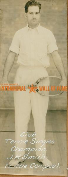 TENNIS Club Singles Champion  Little Campus  J. H. Smith