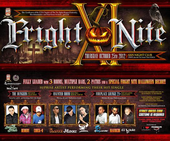 Fright Nite XI @ Axis Nightclub 10.25.12