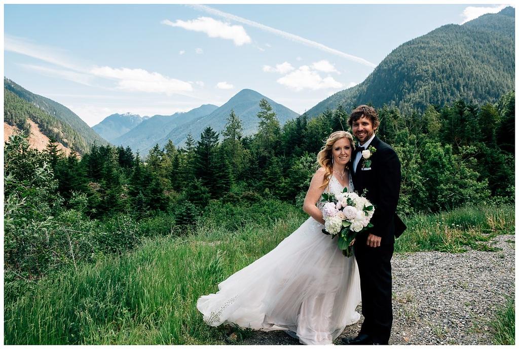 Hope Slide Lookout Wedding Portrait