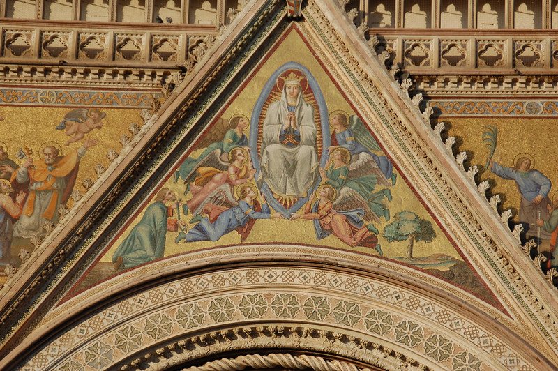 Facade Detail---Orvieto, Italy Duomo