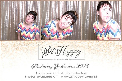 SitHappy 15th Anniversary Photo Booth