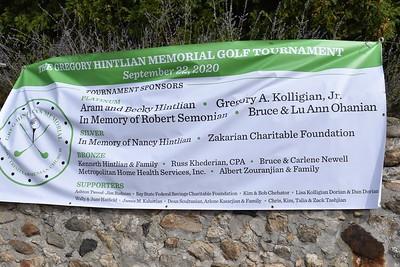 The Gregory Hintlian Memorial Golf Tournament  - 9/22/20