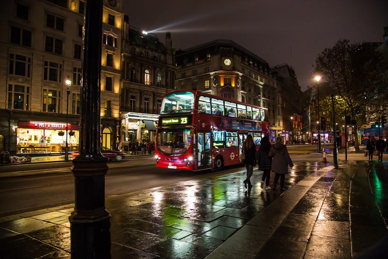 Night Bus on London Street