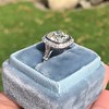 2.85ct Antique Cushion Cut Diamond Halo Ring 8