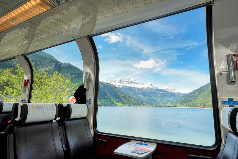 Mountains Framed in Window